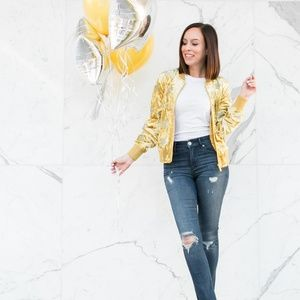 Sanctuary Jackets & Coats - Sanctuary Velvet Gold Bomber Jacket